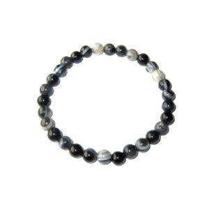 bracelet-agate-zonee-noire-pierres-boules-6mm-1