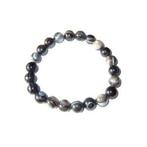 bracelet-agate-zonee-noire-pierres-boules-8mm-1