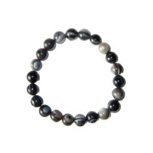 bracelet-agate-zonee-noire-pierres-boules-8mm-2