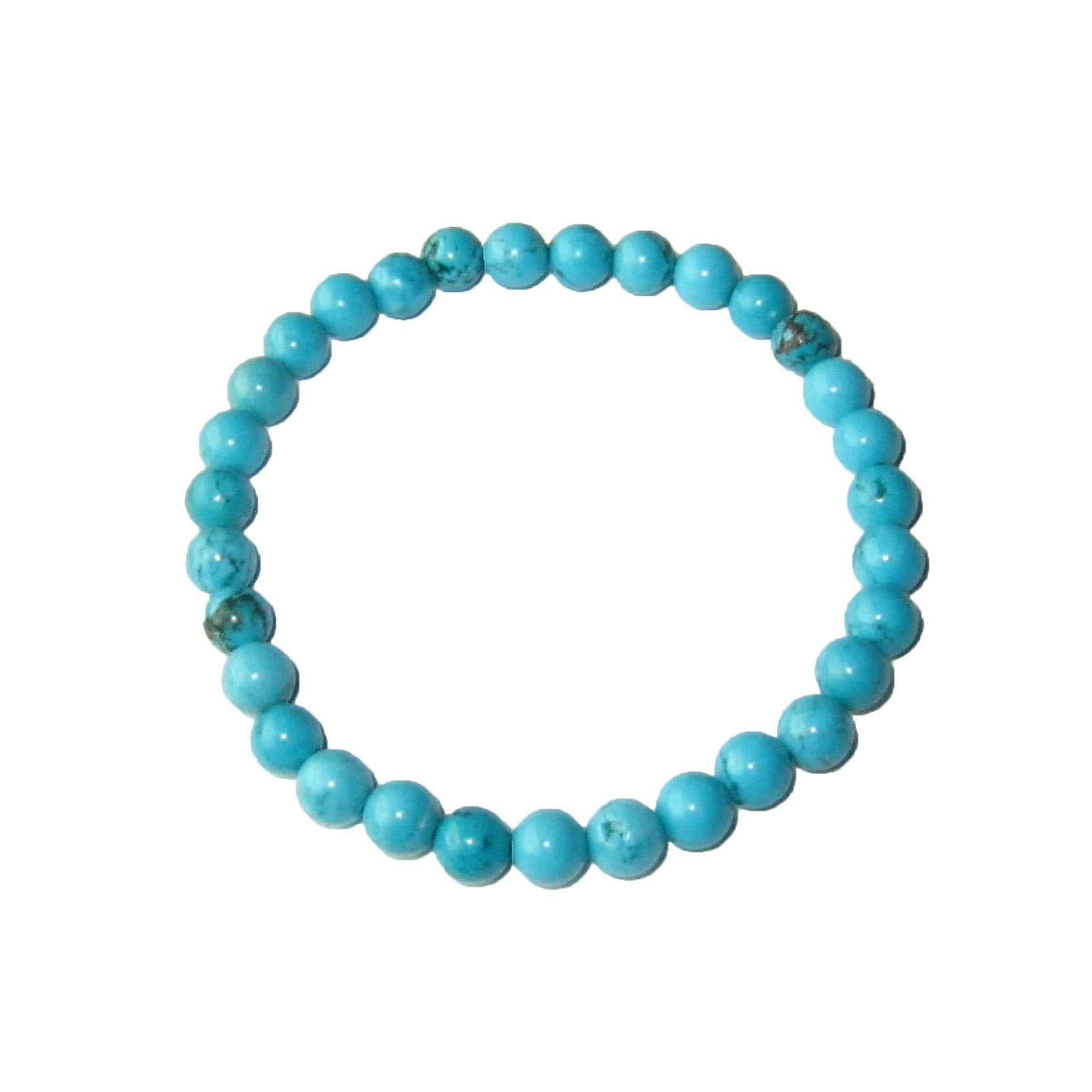 bracelet,turquoise,pierres,boules,6mm,1
