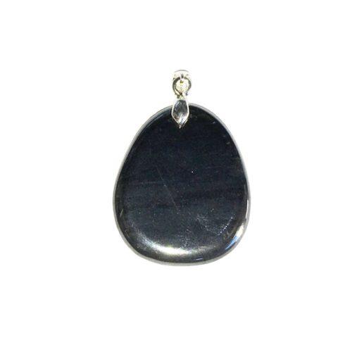 pendentif hematite pierre plate