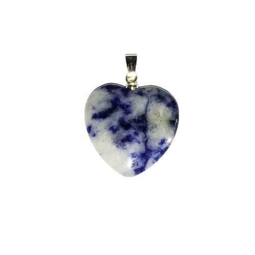 pendentif sodalite petit coeur