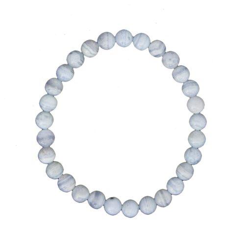 bracelet calcédoine pierres boules 6mm