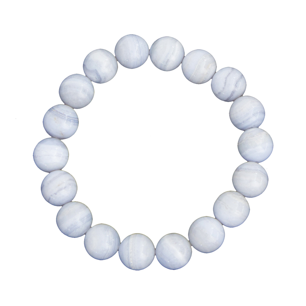bracelet calcédoine pierres boules 10mm