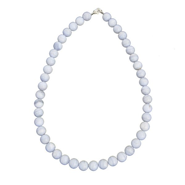 collier calcédoine pierres boules 10mm