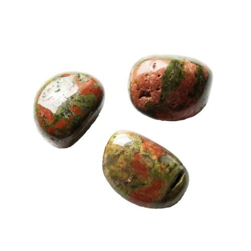 pierre roulée unakite