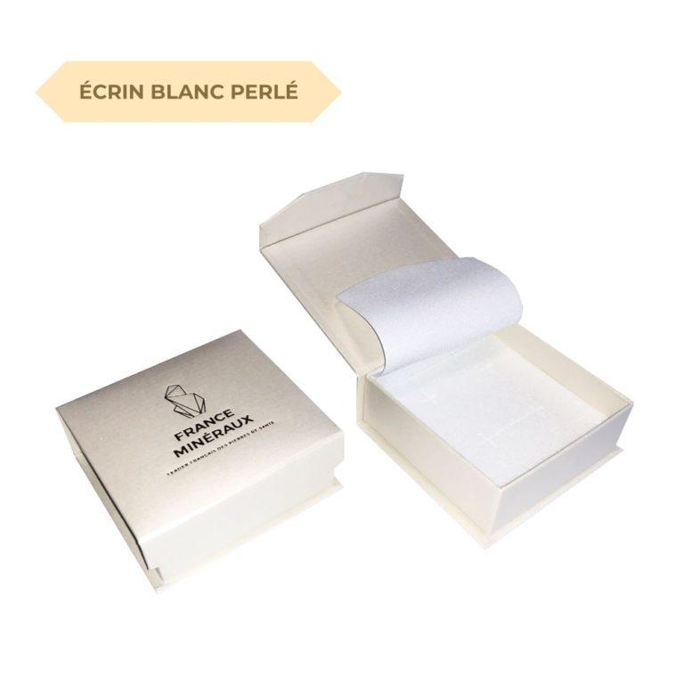 écrin blanc perlé france minéraux
