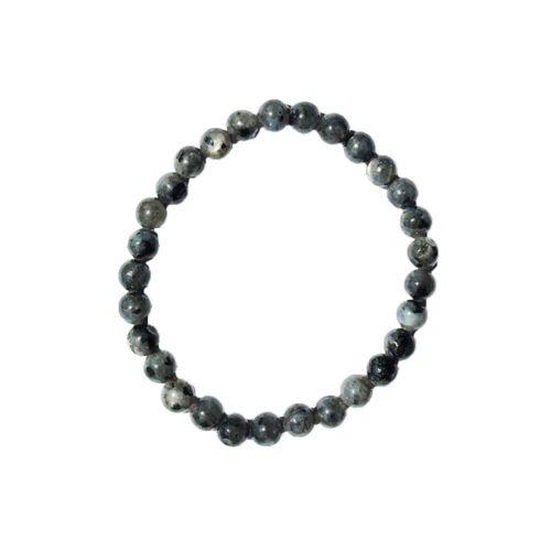 bracelet labradorite avec inclusions pierres boules 6mm