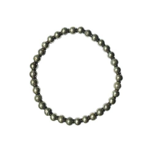 bracelet pyrite de fer pierres boules 6mm