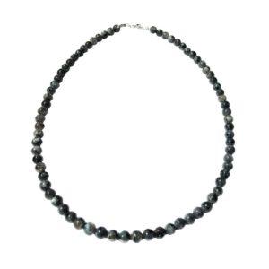 collier labradorite avec inclusions pierres boules 6mm