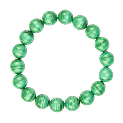 bracelet malachite pierres boules 10mm