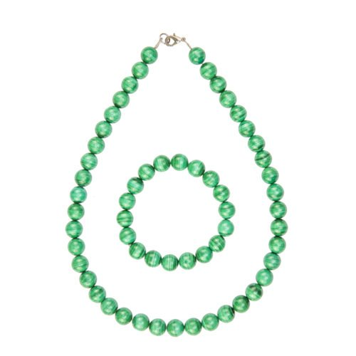 coffret malachite pierres boules 10mm