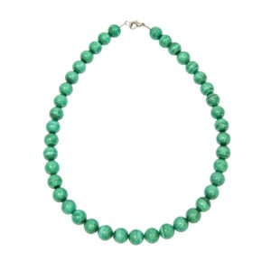 collier malachite pierres boules 10mm