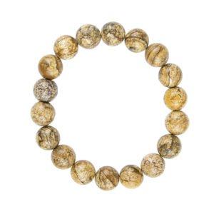 bracelet jaspe paysage pierres boules 10mm