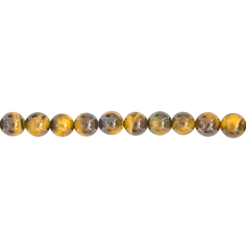 fil oeil de tigre pierres boules 8mm