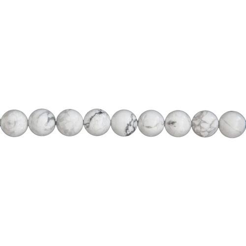 fil howlite pierres boules 10mm