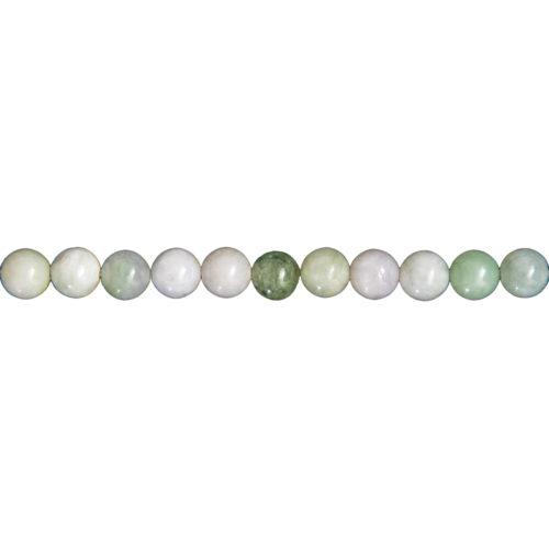 fil jade vert pierres boules 6mm