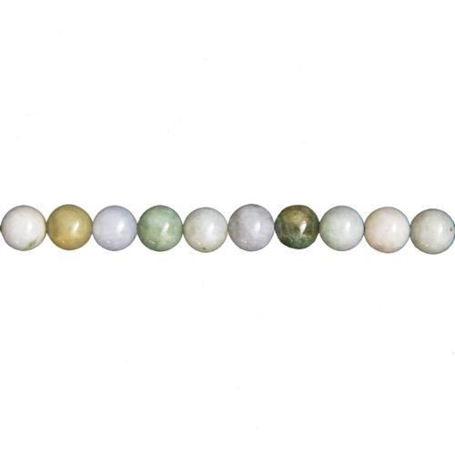 fil jade vert pierres boules 8mm