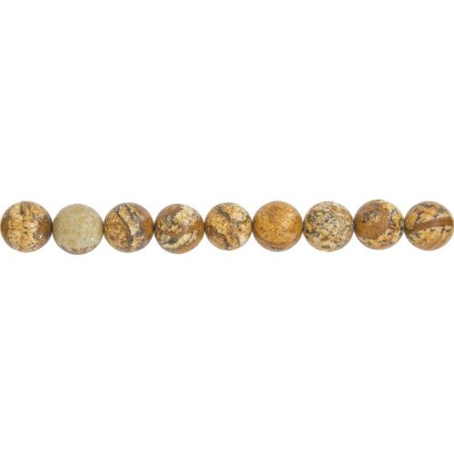 fil jaspe paysage pierres boules 10mm