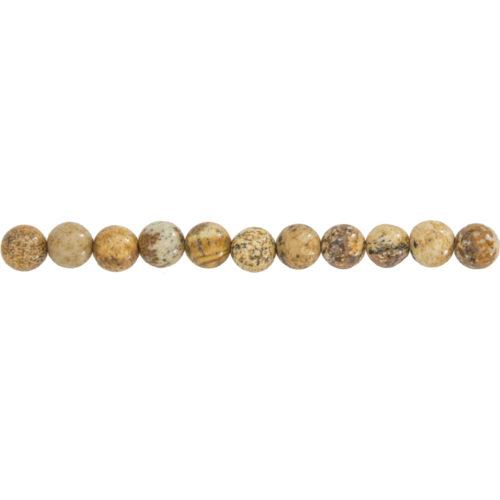 fil jaspe paysage pierres boules 6mm