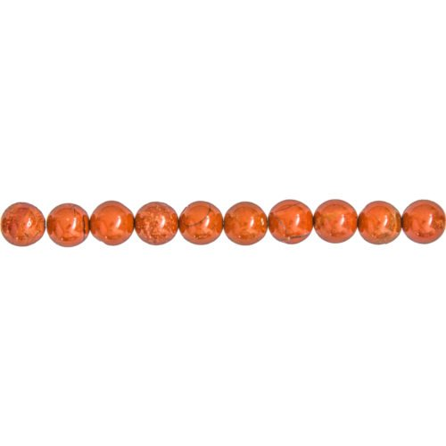 fil jaspe rouge pierres boules 8mm
