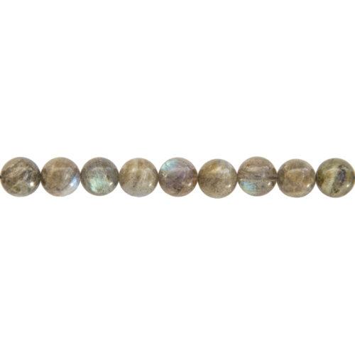 fil labradorite pierres boules 10mm