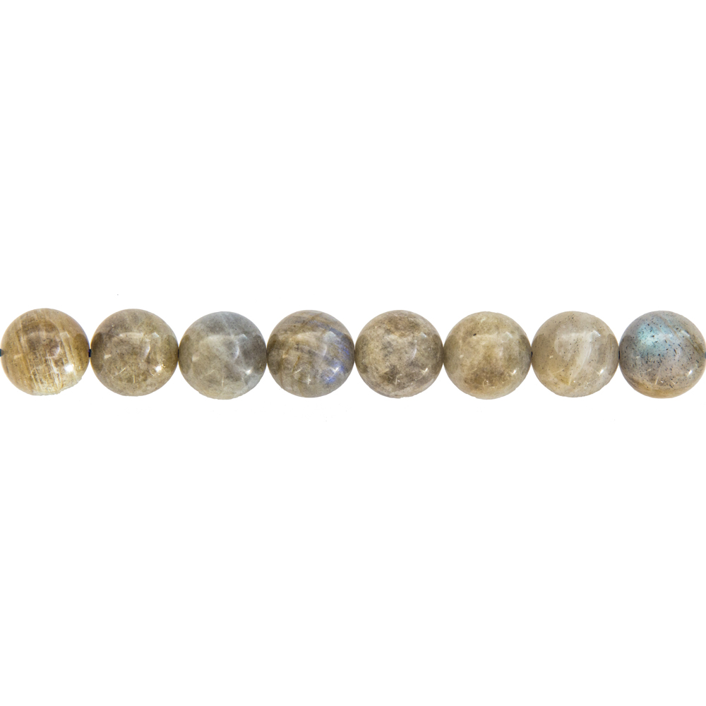 fil labradorite pierres boules 12mm