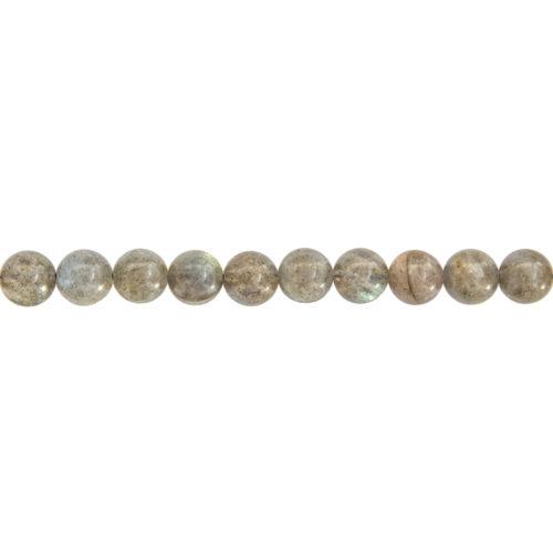 fil labradorite pierres boules 8mm