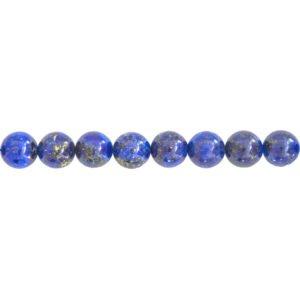 fil lapis-lazuli pierres boules 12mm
