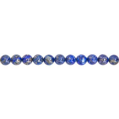 fil lapis lazuli pierres boules 6mm