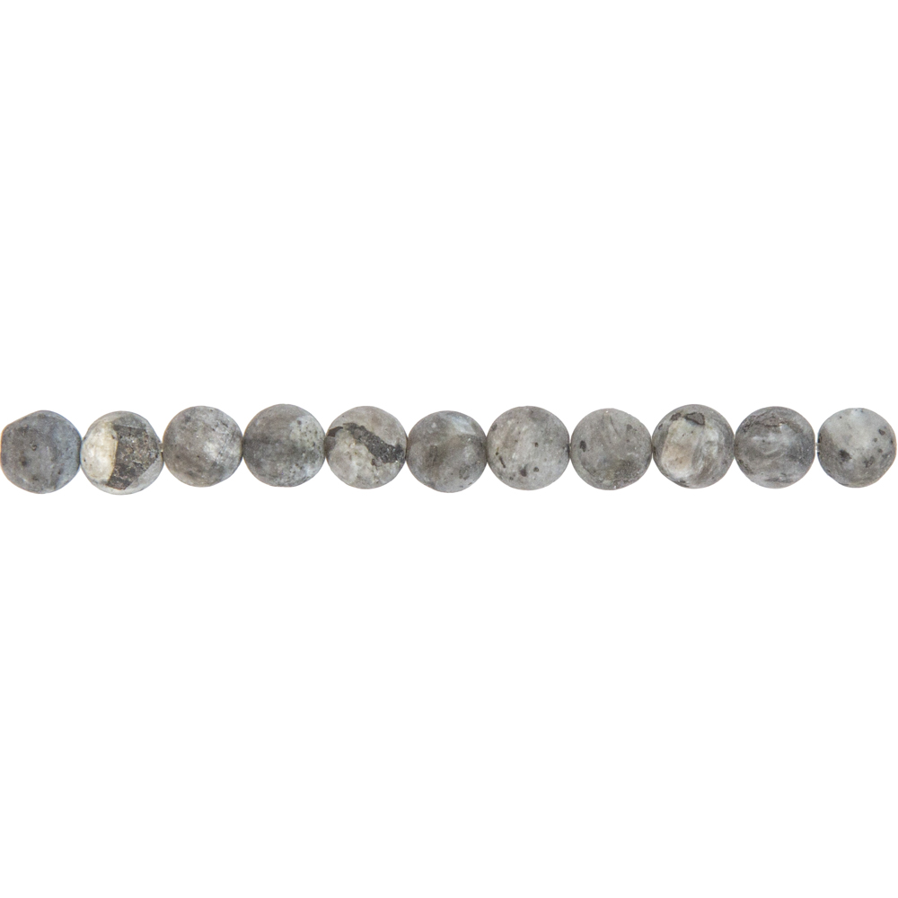 fil larvikite pierres boules 6mm