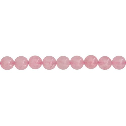 fil quartz rose pierres boules 10mm