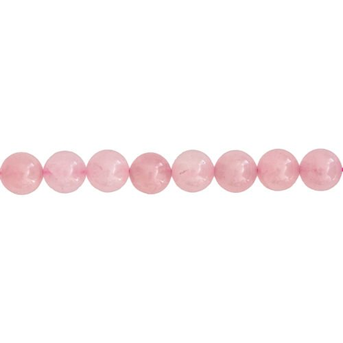 fil quartz rose pierres boules 12mm