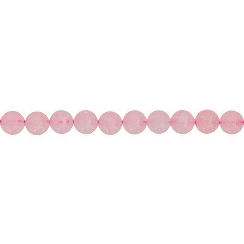 fil quartz rose pierres boules 8mm