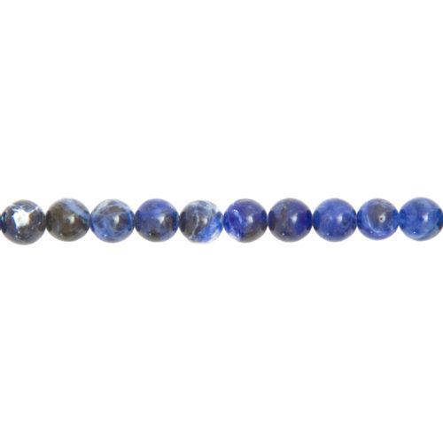 fil sodalite pierres boules 8mm