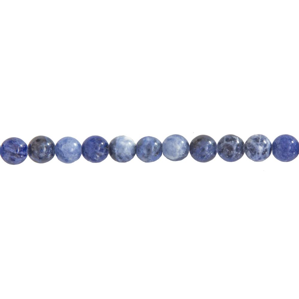 fil sodalite pierres boules 6mm