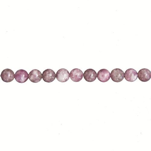 fil tourmaline rose pierres boules 6mm