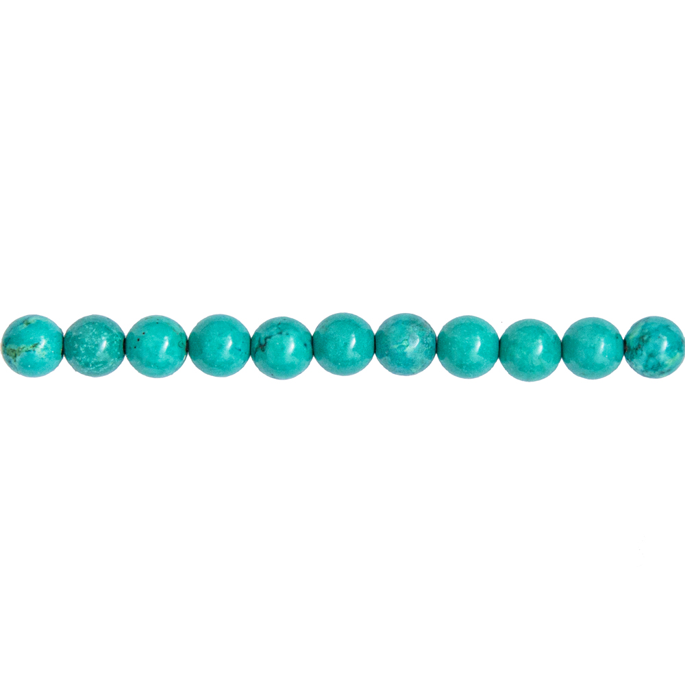 fil turquoise pierres boules 6mm