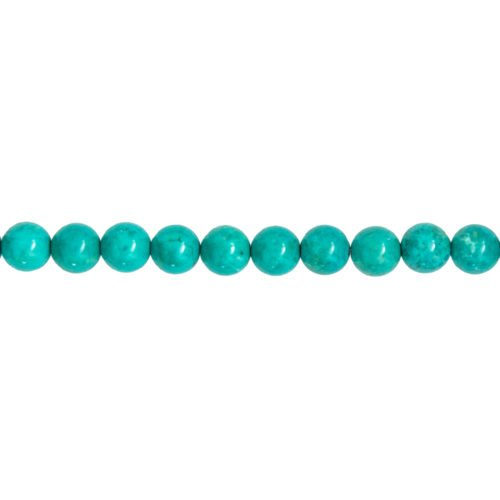 fil turquoise pierres boules 8mm