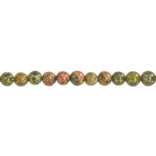 fil unakite pierres boules 6mm