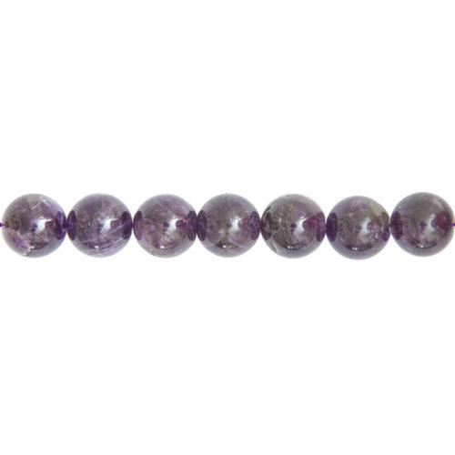 fil améthyste pierres boules 14mm
