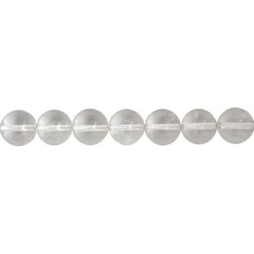 fil cristal de roche pierres boules 14mm