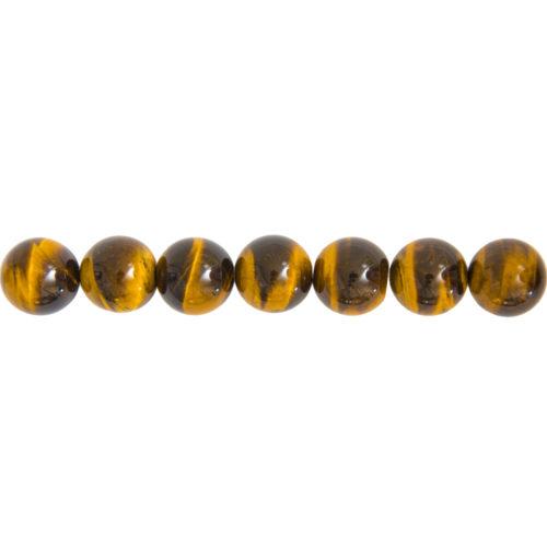 fil oeil de tigre pierres boules 14mm