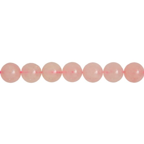 fil quartz rose pierres boules 14mm