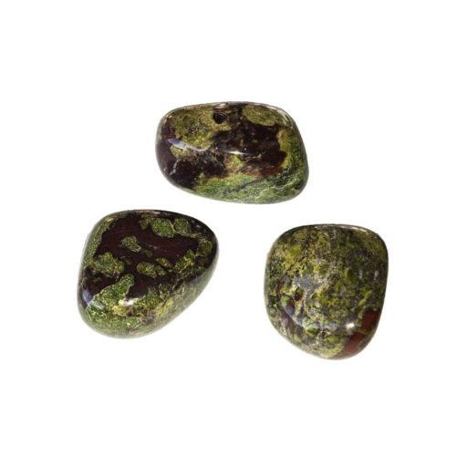 pierre roulée jaspe héliotrope