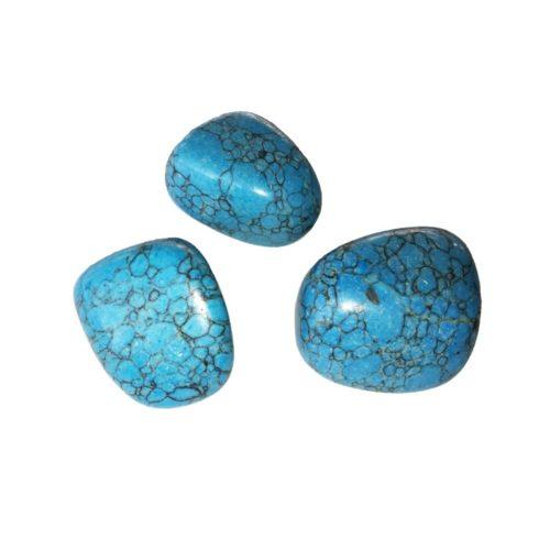 pierre roulée turquoise