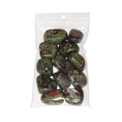 sachet pierres roulées jaspe héliotrope 250grs