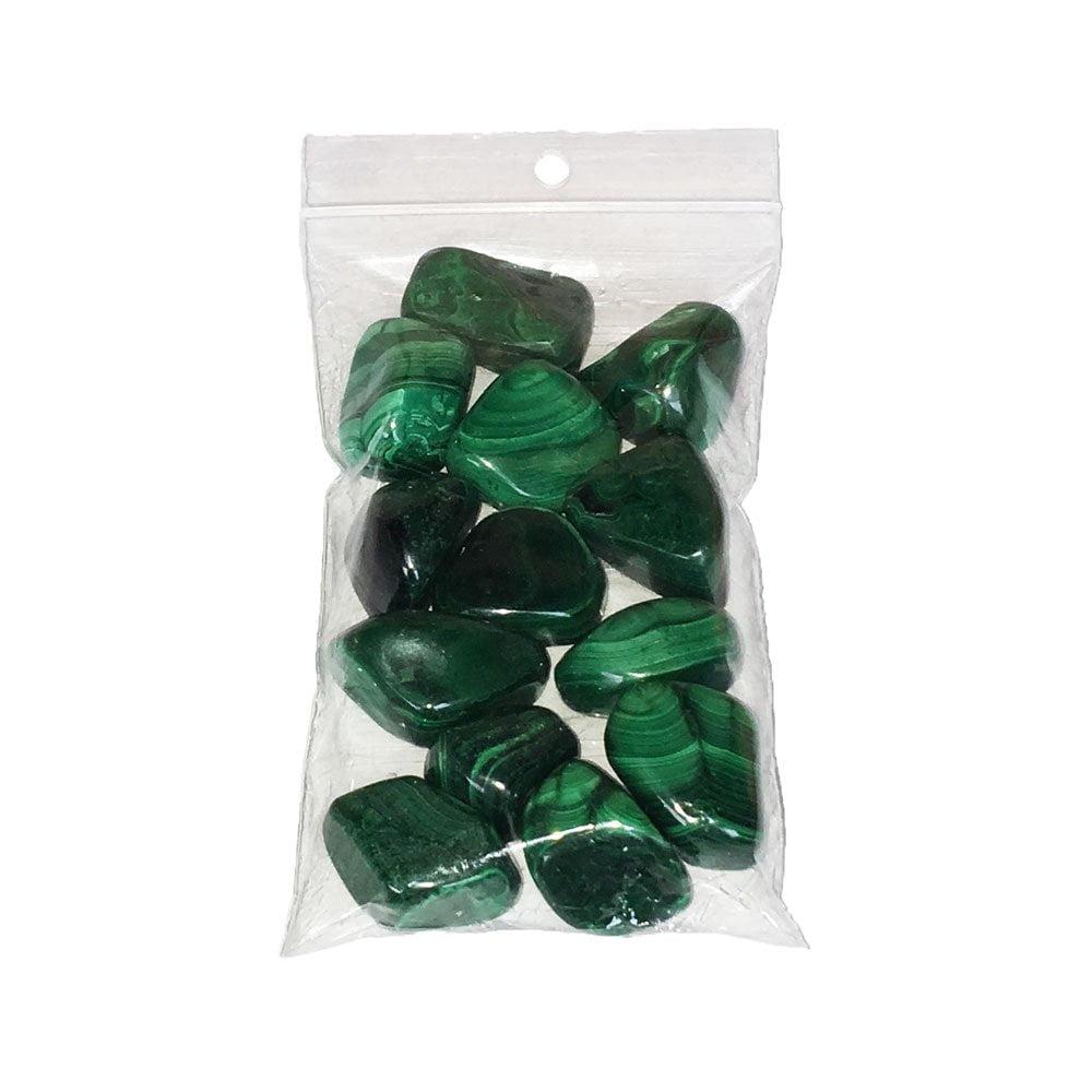sachet pierres roulées malachite 250grs