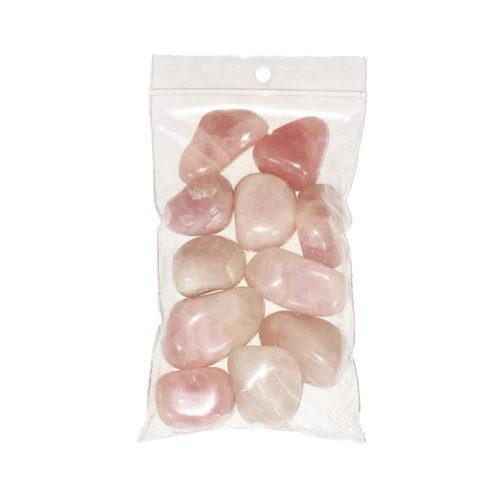 sachet pierres roulées quartz rose 250grs