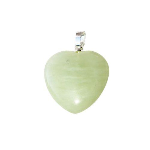 pendentif jade vert petit coeur